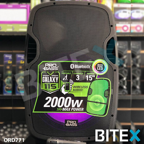 Bafle Activo Pro Bass Elevate 115 15 Pulgadas