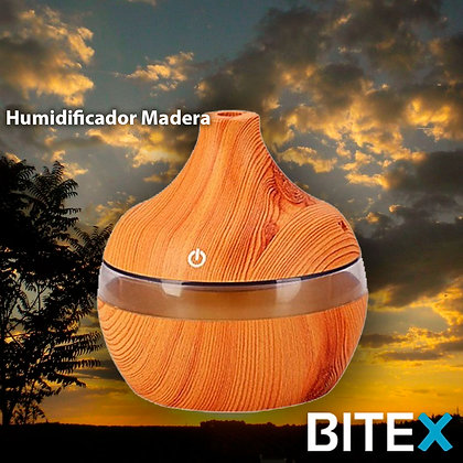 HUMIDIFICADOR MADERA ULTRASONICO
