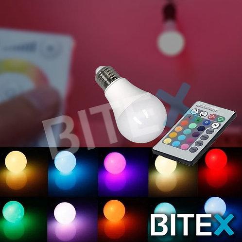 Foco LED Blanco + RGB c/control 12w