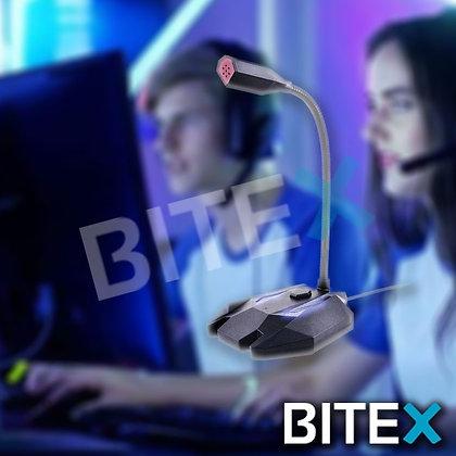 Microfono Gamer Usb Retroiluminado Netmak Flex