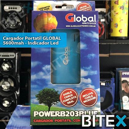 Cargador portátil Global 5600 mah