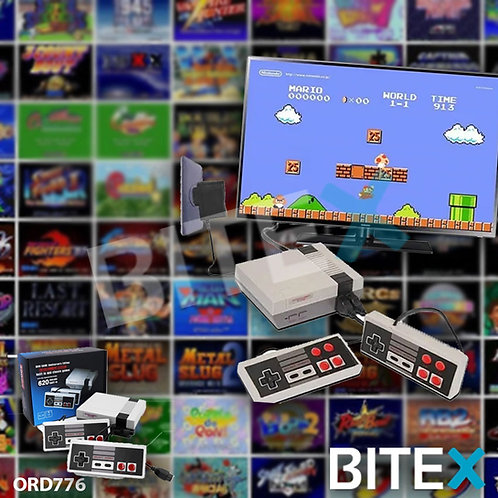 Mini Consolas Clásicas De Videojuegos De TV Incorporado 620 Con 2 Controladores