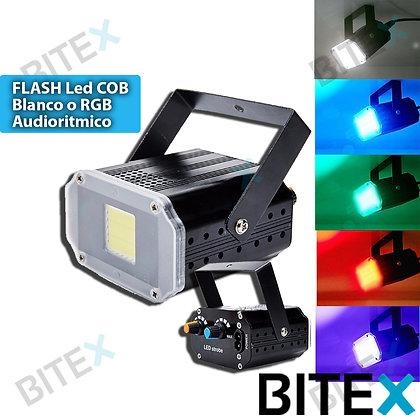 Flash led COB audiorítmico