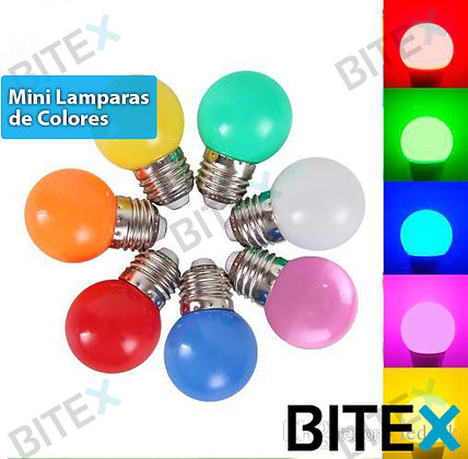 Mini lámparas led colores