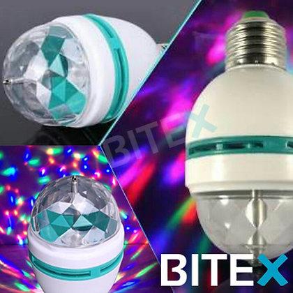 Lámpara led RGB giratoria