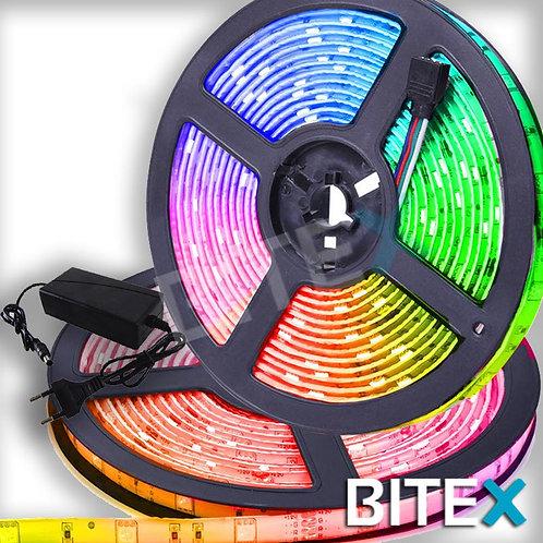 Tira de Led x 5 metros RGB 5050 Automatica + Fuente