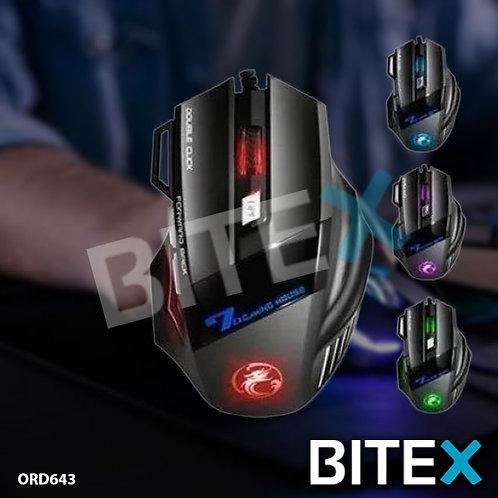 Mouse Optico Weibo Gamer X7 Usb Pc Ergonomico Gaming