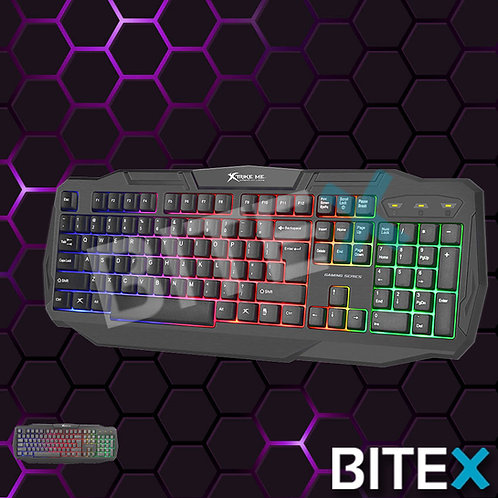 Xtrike Teclado Gamer Kb-302 Bk Blacklight E.full