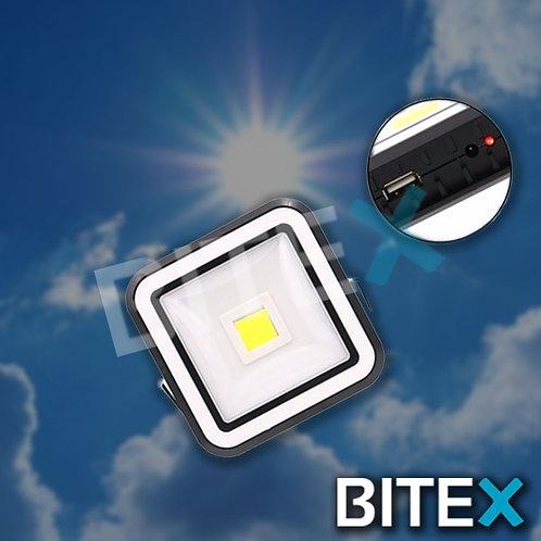 Reflector Led Luz Portátil 20w Usb Y Solar