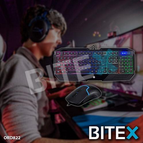 Combo Teclado Y Mouse Gamer Hp Gk1100 Retroiluminado Usb