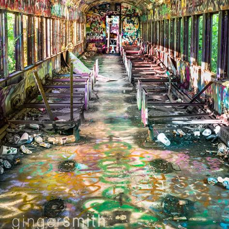 graffiti train, New Hope, 2020