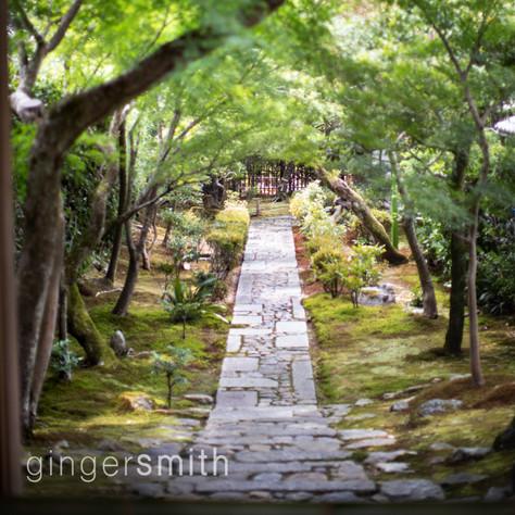 garden walk, Ryoan-ji, Kyoto, 2018