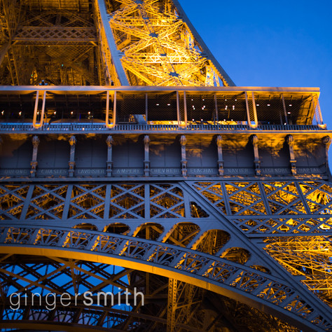 dusk and tower, Paris, 2017