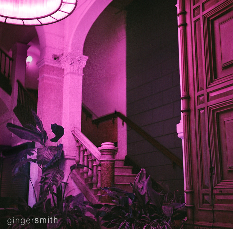 untitled 14 (purple stairs, Barcelona), 2019