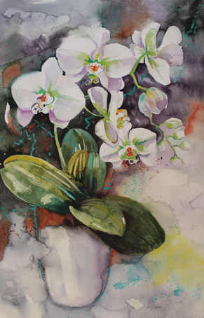 Drift of Orchids-38 x 56 cms