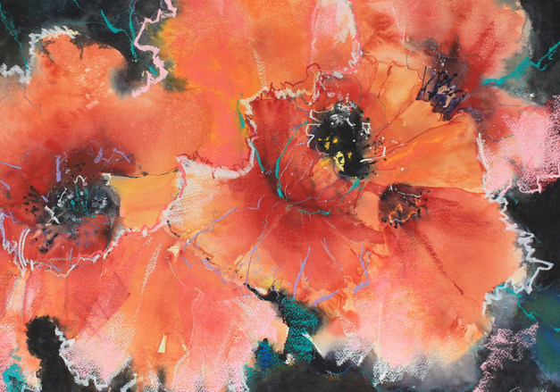 Fiesta-Watercolour-76x 56 cm