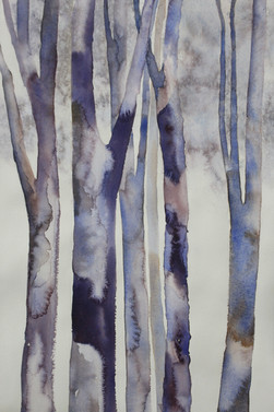 Forest in Blues- 76 x 57 cms