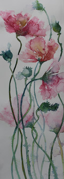 Delicate Blooms76x 28cms