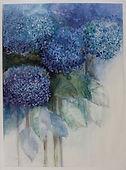 Symphony in Blue-watercolour on Aluminiu