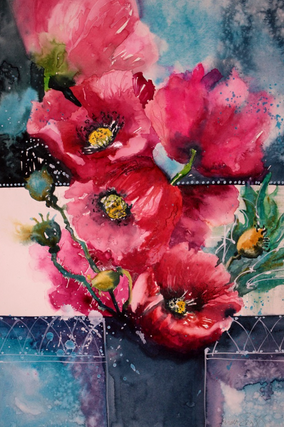 Burst of Spring-38 x 56 cms