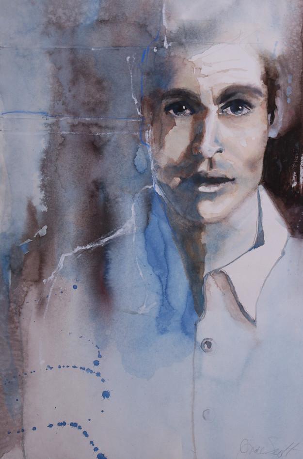 Depth in his Soul-56 x 38 cm
