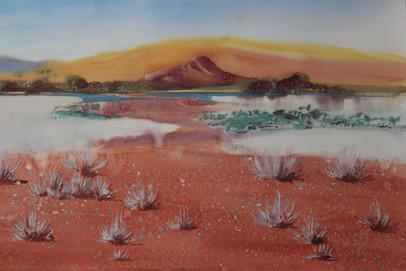 Red Desert -56x 38 cms