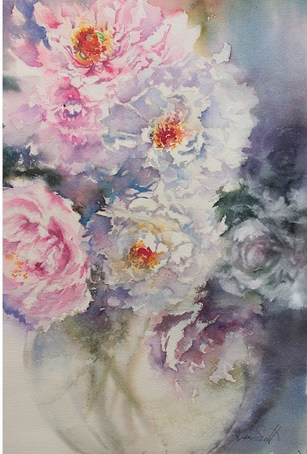 Blooms in Spring-38x 56 cms