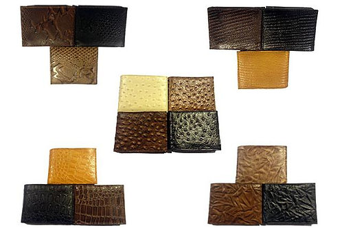 120 Exotic Leather Wallets
