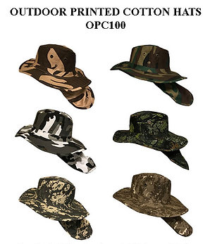96 Outdoor Printed Cotton Hats