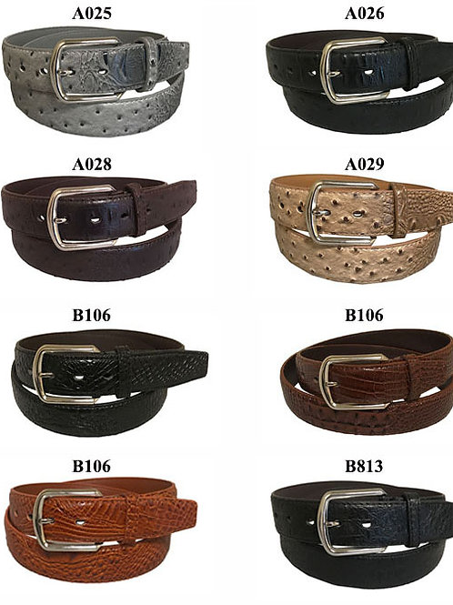 120 Exotic Leather Belts
