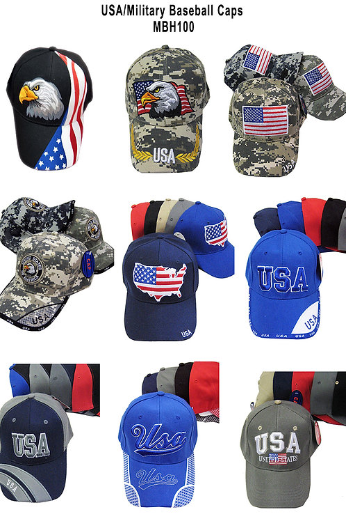 144 USA / Patriotic Baseball Hats