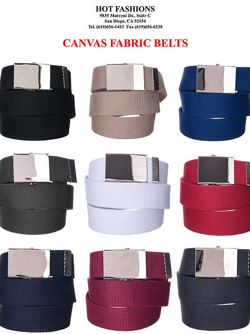 120 Canvas Fashion Belts
