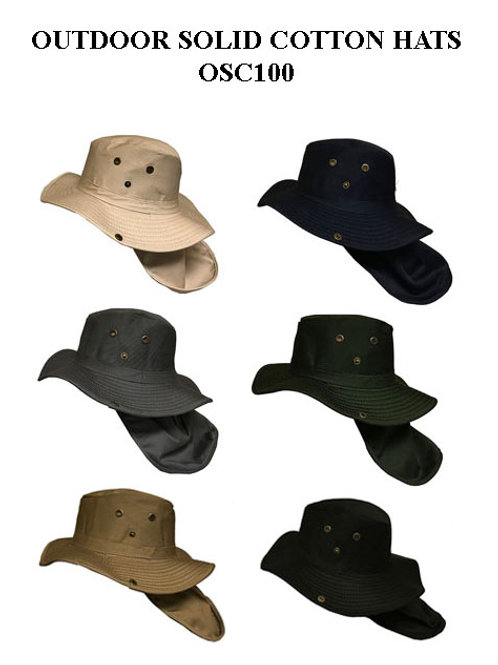 96 Outdoor Solid Cotton Hats