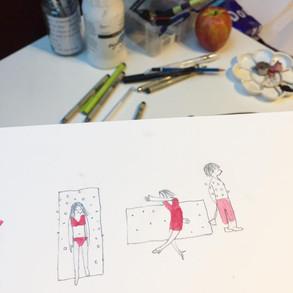 Potlood / Waterverf tekening