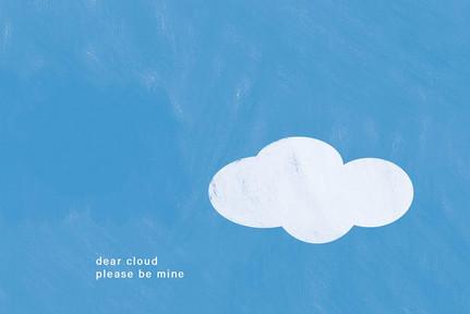 Dear cloud please be mine, digitale tekening