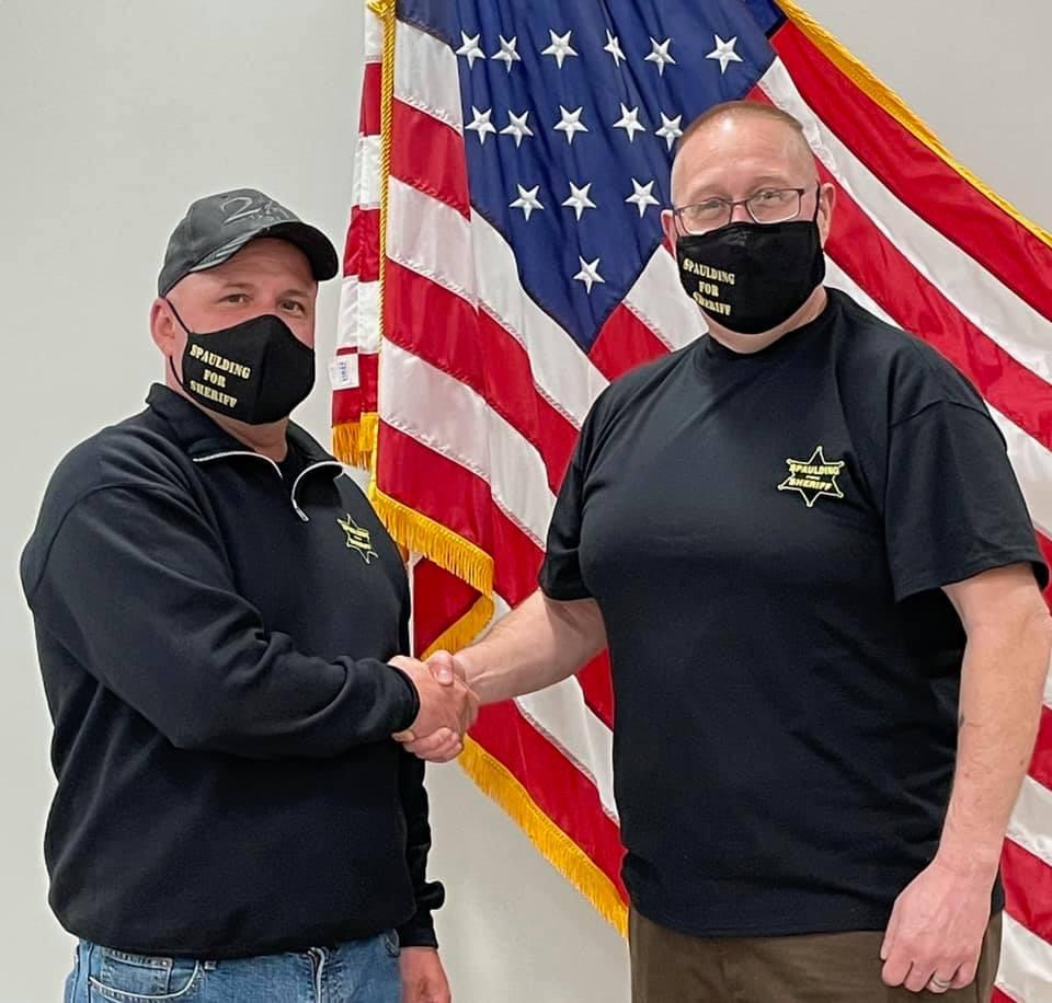 Undersheriff Spaulding with Kirk Smith, Communications Supervisor Schuyler Co. Sheriff's Office