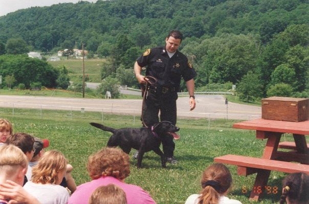 Throw Back of Breck from 1998 with his K9 Basha