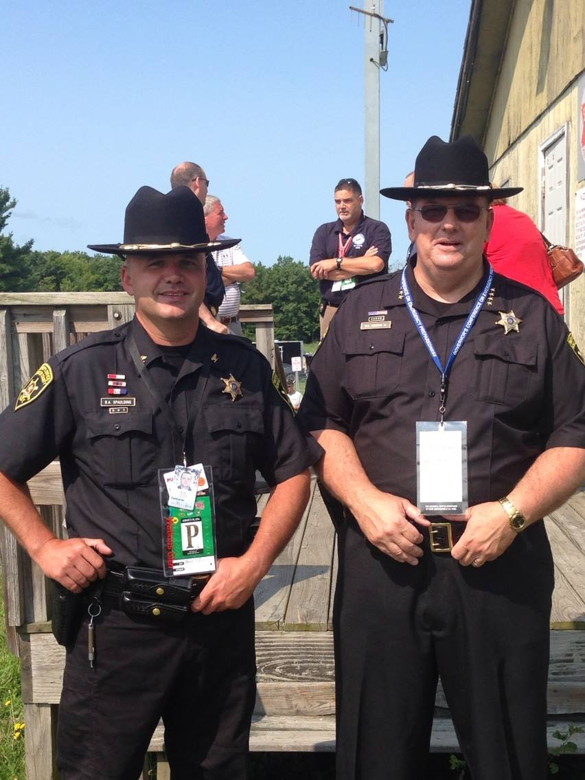 Breck with Sheriff Yessman at WGI