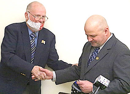 Breck with Retired Schuyler Co. Sheriff Michael J. Maloney