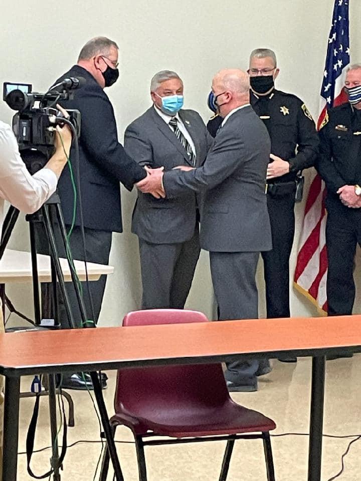 Breck with Sheriff Bill Yessman, Sheriff Jim Allard (Steuben Co.) and Sheriff Bill Schrom (Chemung Co.) & Sheriff Gary Howard (Tioga Co.)