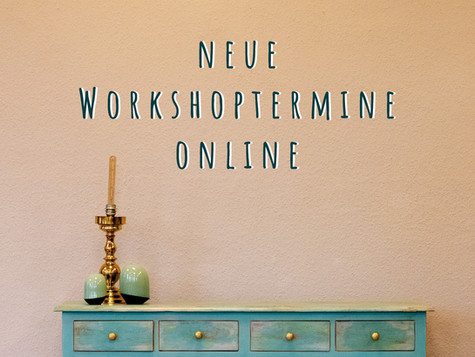 Workshop-Termine September, Oktober, November