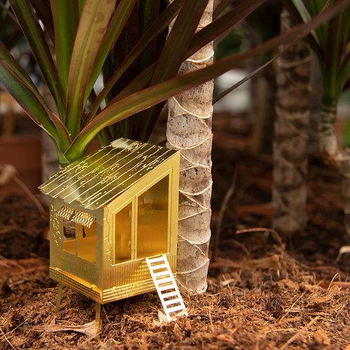 kleines Baumhaus für Pflanzen