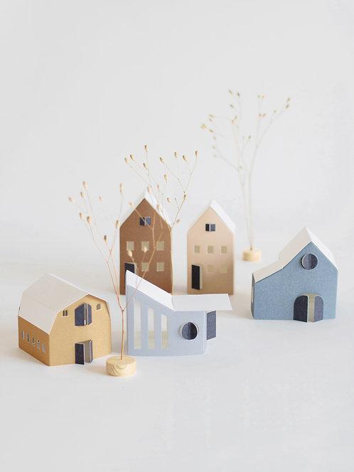 """Papierhäuser """"Tiny Houses"""" 12er Set"""