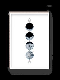 Mondphasen mit Pfeil