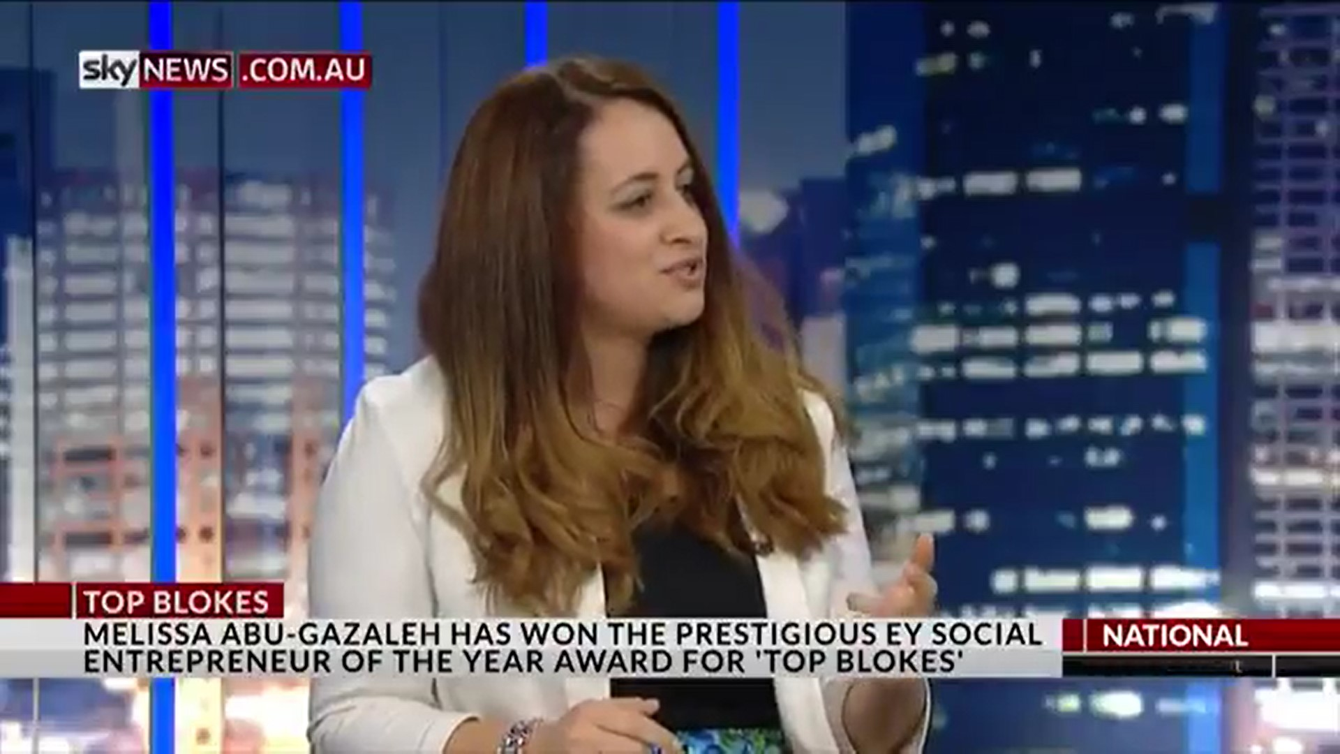 Mel on Sky News