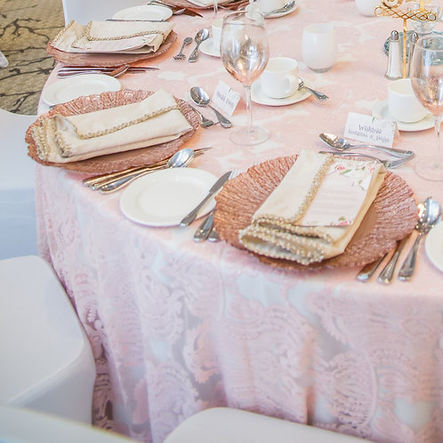 Venetian Lace Tablecloth - 132in round