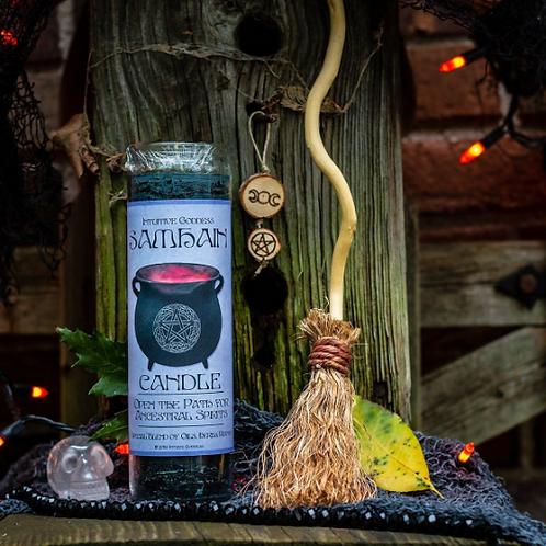 Samhain /Halloween Candle - Cauldron