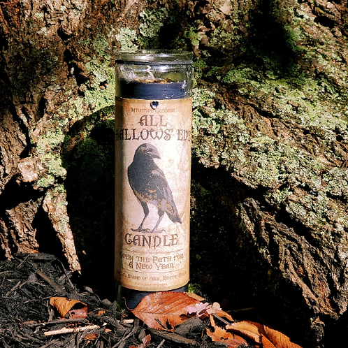 All Hallows Eve Raven Candle / Limited Edition / Black