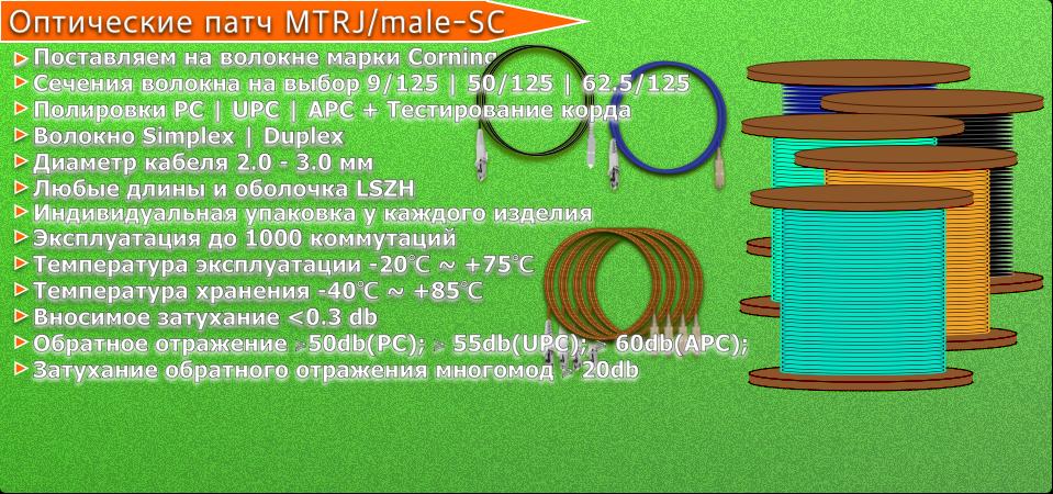 MTRJ:male-SC патч корды.png