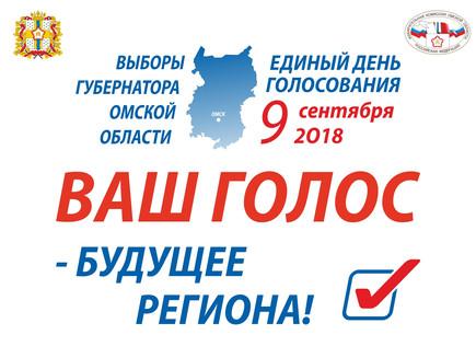 Выборы Губернатора Омской области. 9 сентября 2018 г.